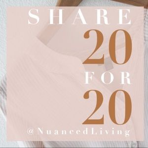 NEW LISTING - Share 20 for 20! 💕
